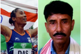 Hima's historic feat has parents beaming with pride