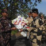 BSF Meghalaya Frontier Inspector General visits war memorial at Kilapara