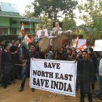 Meghalaya Youth Congress stages demonstration against Citizenship Bill at Tura