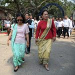Agatha K Sangma files nomination papers for Tura Lok Sabha poll, Ferlin CA Sangma submit papers for Selsella Assembly bypoll