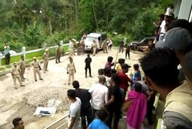 Police attacked by mob at Shella for stopping election Village Dorbar's secretary