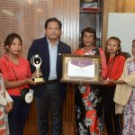 Jingjaw Umbarit Agro Food Products Cooperative Society conferred with Meghalaya Entrepreneurship Recognition Award