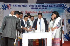 CM attends Silver Jubilee celebration of Sacred Heart Boys' H/S School, Mawlai