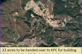 22 acres to be handed over to KPC for building Shillong Medical College at Umsawli