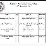2nd Meghalaya Baby Football League's title clash on Saturday