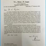 Leader of Opposition writes to Minister