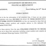 Secretary to the Government of Meghalaya Political Department C.V.C Diengdoh