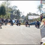 Meghalaya Assembly Speaker Metbah Lyngdoh seeks cooperation from the people of the constituency in a meeting at Mairang Civil sub Division