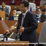 Meghalaya Assembly passes budget estimates for 2020-21