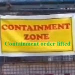 Containment order lifted