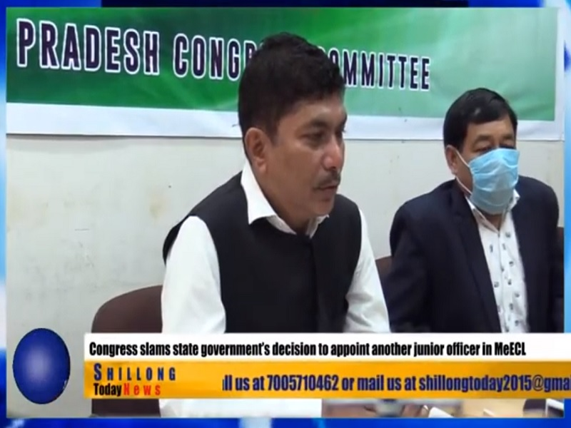 Congress not satisfied with appointment of MEECL's new CMD
