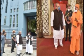Governor visits Ramakrishna Mission and Cathedral