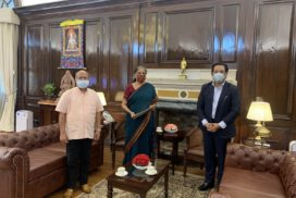 Meghalaya Chief Minister Conrad K. Sangma meets Union Ministers in Delhi
