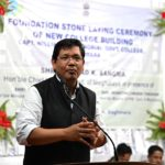 Base for construction of new building of Captain W. A. Sangma Memorial College laid