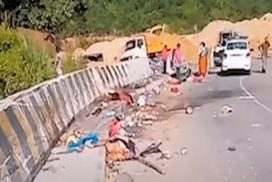 Five mowed down by truck in Thangshalai