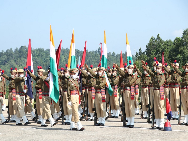 Passing out parade for 124 new Meghalaya police recruits held