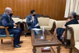 Conrad calls on Sitharaman seeking assistance for different projects under Special Central Assistance