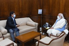 Conrad meets PM Modi to inform him of initiatives taken up by state govt