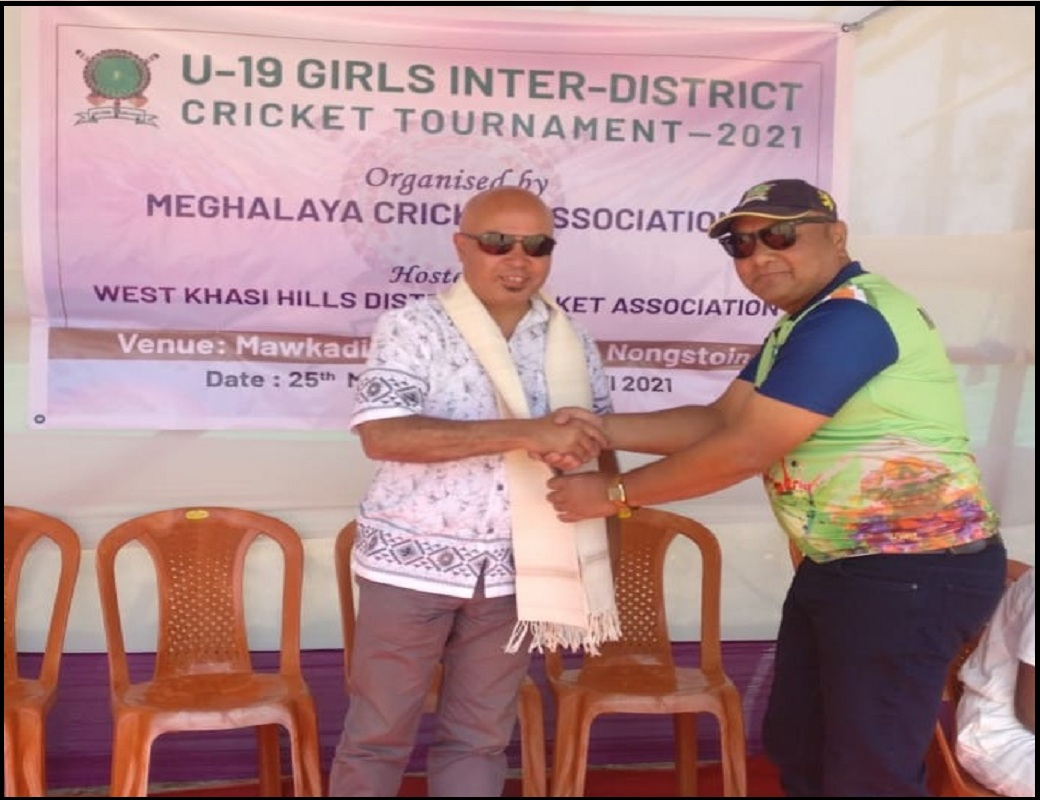 Shillong, Mar 25: The Meghalaya Cricket Association's Inter District U-19 Girls Cricket Tournament 2021 began today in Nongstoin. The West Khasi Hills Superintendent of Police, Herbert G Lyngdoh IPS, was the chief guest on the opening day. Eleven teams will play in the tournament, divided between three groups. All the matches will be played in Nongstoin. East Garo Hills, Ri-Bhoi and All Jaintia Cricket Association form Group A; South West Khasi Hills, South Garo Hills, Shillong Cricket Association and West Khasi Hills form Group B; and East Jaintia Hills, North Garo Hills, East Khasi Hills and Tura District Cricket Association form Group C. The top team from each group and the second-best team from Group B will qualify for the semifinals.