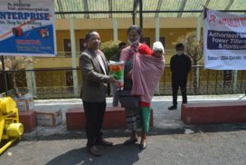 Agri-Minister distributed power tillers and seeds to the farmers