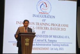 Conrad Sangma asks newly inducted MCS officers to have purpose, while discharging duties