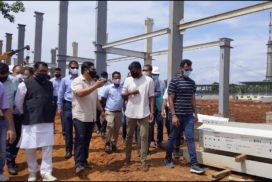 Conrad reviews construction of PA Sangma Sports Complex and Tribal Research Institute