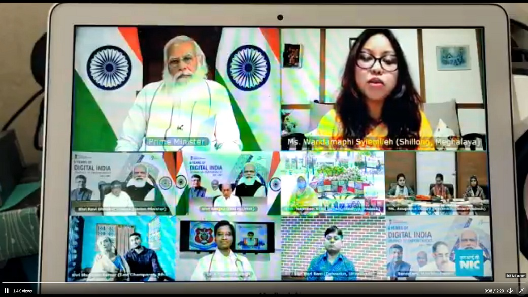 Prime Minister interacts with Shillong girl on occasion of 6th Digital India day