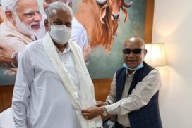 Sanbor Shullai meets Purshottam Rupala, urges him to release funds for Veterinary and Animal Husbandry sector