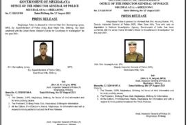 State police officers receives Union Home Minister's Medal